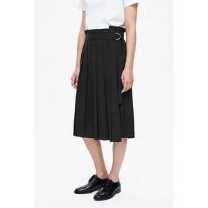 Cos Pleated Wrap Skirt
